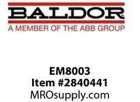 BALDOR EM8003 1HP 1760RPM 3PH 60HZ 563519M TEFC F1N