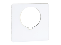 SquareD 9001KN100WP 30MM LEGEND PLATE - BLANK (WHITE) 9001KN100WP 30MM LEGEND PLATE - BLANK (WHITE)