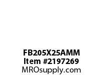 PTI FB205X25AMM 3-BOLT FLANGED BRACKET BEARING-25MM FB 200 GOLD SERIES - NORMAL DUTY -