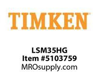 TIMKEN LSM35HG Split CRB Housed Unit Component
