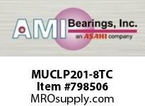 AMI MUCLP201-8TC 1/2 STAINLESS SET SCREW TEFLON LOW SINGLE ROW BALL BEARING