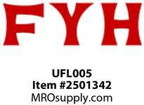 FYH UFL005 25MM ULTRA LD SS 2B FLANGE UNIT (6900)