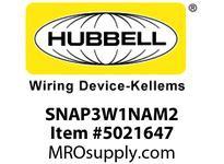 HBL_WDK SNAP3W1NAM2 SNAPCONNECT 6^ 3W SW SOL WIRE W/PUSH-I