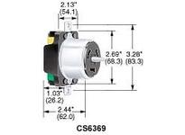 HBL-WDK CS8369L LKG RCPT 50A 3P250V 3P4W LC
