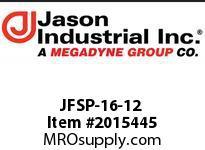 Jason JFSP-16-12 O-RING FLAT SEAT SW DBL HEX