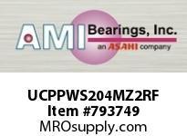 AMI UCPPWS204MZ2RF 20MM ZINC SET SCREW RF PRESSED STAI BLOCK SINGLE ROW BALL BEARING