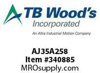 TBWOODS AJ35A258 AJ35-AX2 5/8 FF COUP HUB