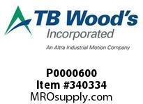 TBWOODS P0000600 P0000600 5SX19MM SF FLANGE