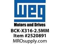 WEG BCK-X316-2.5MM BRG CAP KIT XP IP54 316 Motores