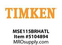 TIMKEN MSE115BRHATL Split CRB Housed Unit Assembly