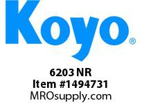 Koyo Bearing 6203 NR SINGLE ROW BALL BEARING