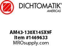 Dichtomatik AM43-130X145X9F WIPER METAL CLAD D STYLE FKM 90 DURO WIPER METRIC