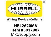 HBL_WDK HBL2620M8 LKG RCPT 30A 250V L6-30R RED