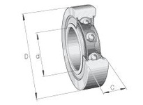 INA LR207NPP Yoke type track roller