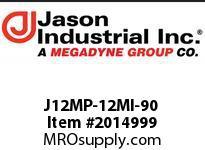 Jason J12MP-12MI-90 ADAPTOR 90* EL M NPT X M JIC