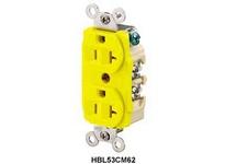 HBL-WDK HBL53CM62 DUP MARINE RCPT 20A 125V 5-20R YL