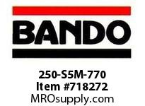 Bando 250-S5M-770 SYNCHRO-LINK STS TIMING BELT NUMBER OF TEETH: 154 WIDTH: 25 MILLIMETER
