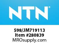 NTN 598/JM719113 MEDIUM SIZE TAPERED ROLLER BRG