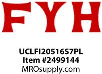 FYH UCLFI20516S7PL 1in 2B FL *PLATED INSERT/PLASTIC HOUSING*