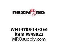 REXNORD WHT4705-14F3E6 WHT4705-14 F3 T6P WHT4705 14 INCH WIDE MATTOP CHAIN W
