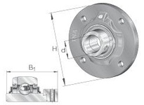 INA RFE60 Four-bolt piloted flanged unit