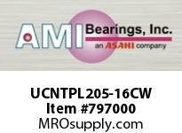 AMI UCNTPL205-16CW 1 WIDE SET SCREW WHITE TAKE-UP 2 OP SINGLE ROW BALL BEARING