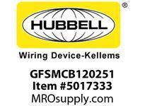 HBL_WDK GFSMCB120251 25A 120VAC 1P CIRCUIT BREAKER 1 PH