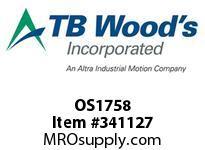 TBWOODS OS1758 OS17X5/8 FHP SHEAVE
