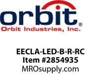 Orbit EECLA-LED-B-R-RC LED EXIT & LED EMER COMBO W/ADJ HEADBLK HSGRD LTRSREM CAP