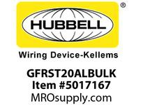 HBL_WDK GFRST20ALBULK 20A COM SELF TEST GFR ALMOND BULK