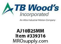 TBWOODS AJ10B25MM AJ10-BX25MM FF COUP HUB