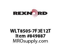 REXNORD WLT8505-7F3E12T WLT8505-7 F3 T12P TAB SP CONTACT PLANT FOR ACCURATE DESCRIPT