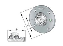 INA RME75 Four-bolt piloted flanged unit