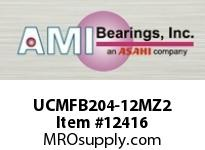 AMI UCMFB204-12MZ2 3/4 ZINC WIDE SET SCREW STAINLESS 3 W/ZINC COATED BEARING
