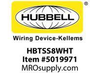 HBL_WDK HBTSS8WHT WBACCSSHLFSPT8^TRAYWHITE