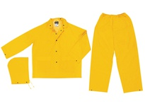 MCR 2903X4 Classic .35mm PVC/Poly Suit 3 PC Elastic Pant YELLOW