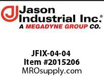 Jason JFIX-04-04 JIC 37* FEM SWIVEL DBL HEX