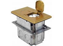 Orbit FLB-D-BR FLOOR BOX POP-UP W/ DUPLEX RECPT BRASS