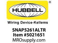 HBL_WDK SNAP5261ALTR SNAP SGL RCPT 5-15R 15A 125V TR AL