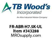 TBWOODS FR-ABR-H7.5K-UL BRAKE RESISTOR A/F700 7.5KW