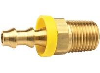 "DIXON 2720808C 1/2"" Hose ID x 1/2"" Male NPTF x Push-on Hose Barb Brass Dryseal"