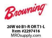 Morse 20W 60 B1-R OR T1-L W REDUCERS 0 - 2.9