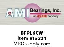 AMI BFPL6CW 30MM NARROW SET SCREW WHITE 4-BOLT PLASTIC HSG W/O.C & BS