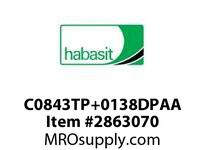 "Habasit C0843TP+0138DPAA 843 1.38"" Acetal Top Plate"