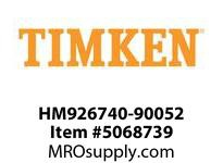 TIMKEN HM926740-90052 TRB Two Single Row Assembly 8-12OD