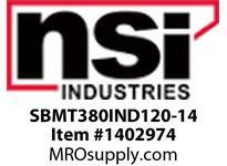 NSI SBMT380IND120-14 SHOEBOX MED TYPE 3 REFLECTOR 80W INDUCTION 120V 14^ ARM