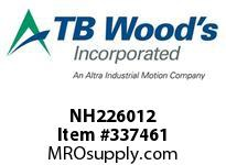 TBWOODS NH226012 NH2260X1/2 FHP SHEAVE