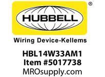 HBL_WDK HBL14W33AM1 WT PLUG 5-20P 20A/125V IN BOX