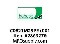 Habasit C0821M25PE+001 821 25T Machined Solid White UHMW - MPB
