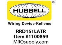 HBL-WDK RRD151LATR RESI SGL RCPT 15A 125V DEC TR LA